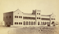 General view of the exterior of St Patrick's School, Karachi